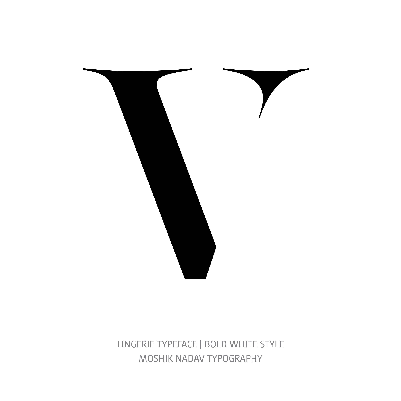 Lingerie Typeface Bold White V
