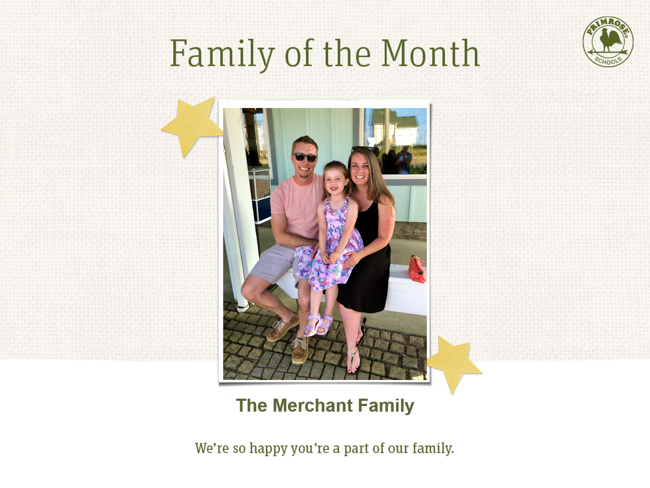 June Family of the Month - family appreciation