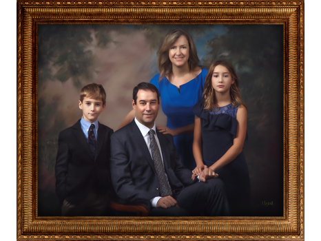 Masterpiece Family Portrait by Masana at the Hotel Elysée in NYC