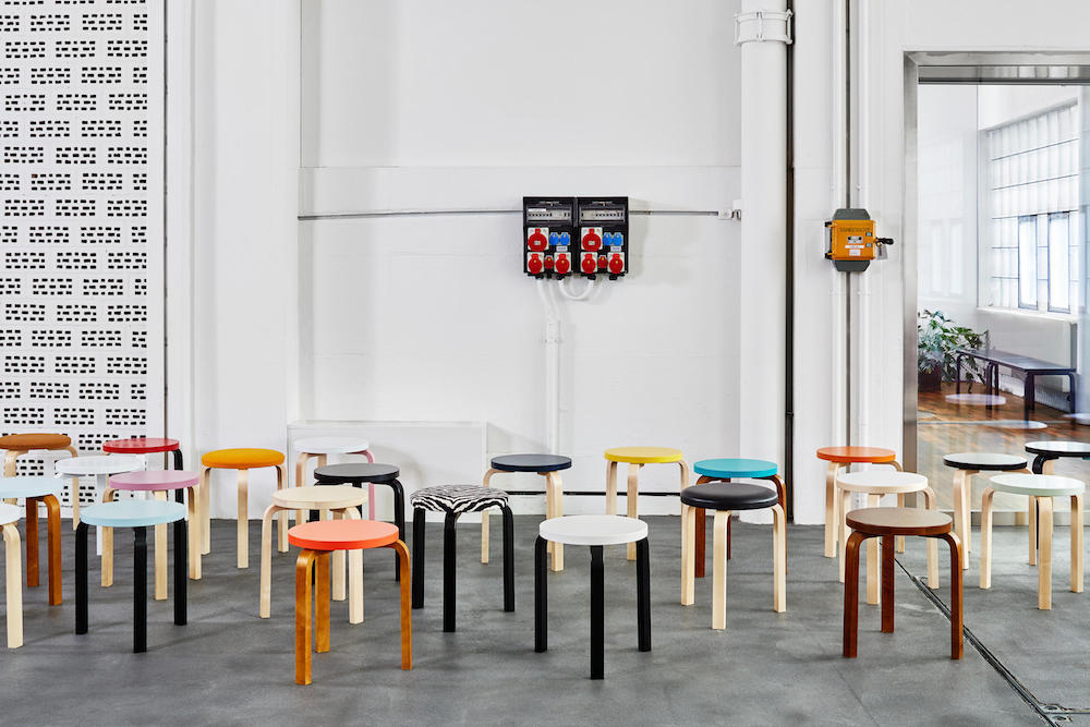 Artek's 2015 collaboration with Hella Jongerius featured new colorways and finishes for the iconic Stool 60