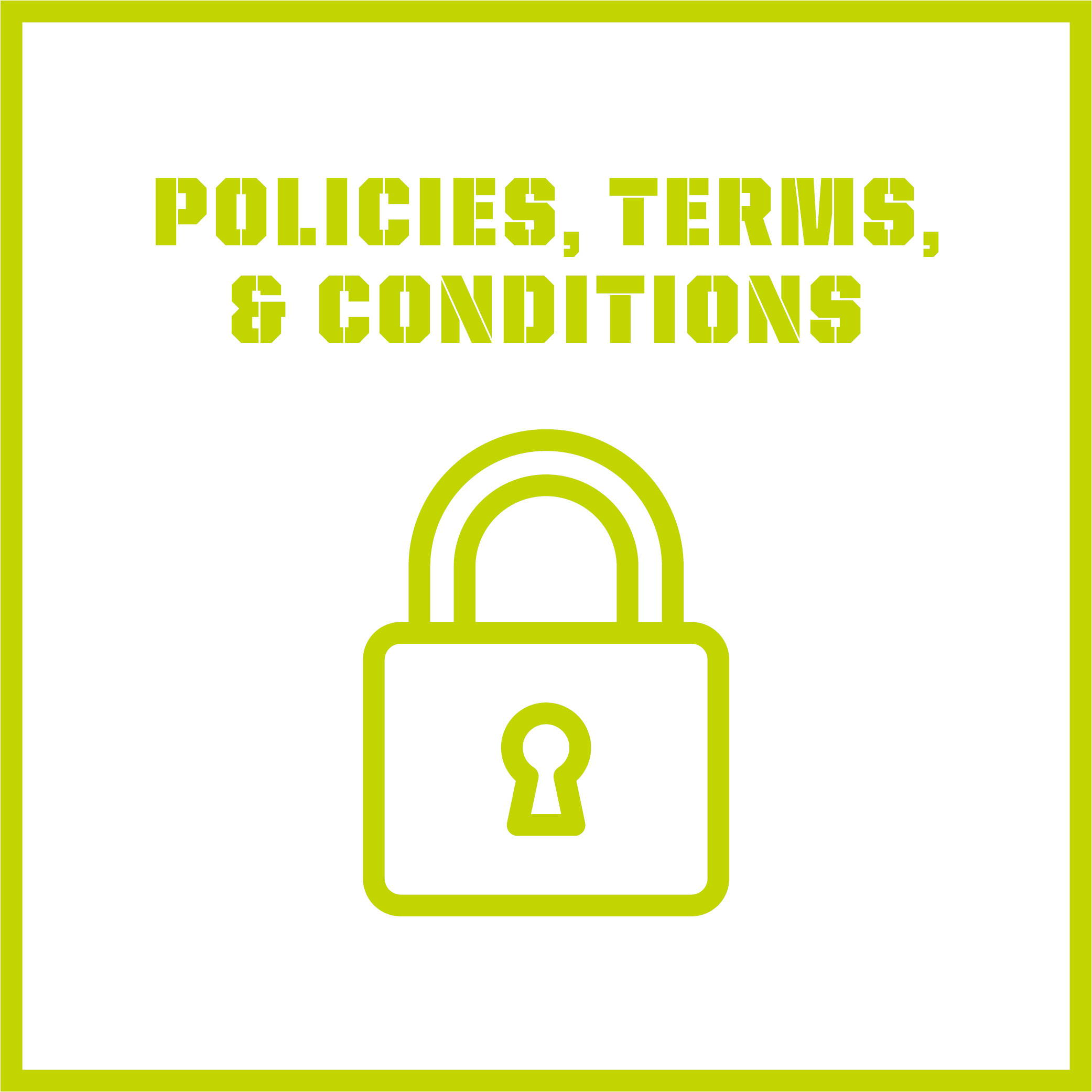 policies terms and conditions
