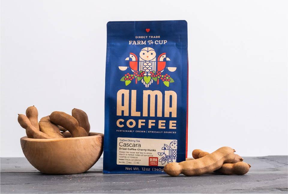 A bag of Alma's Cascara.