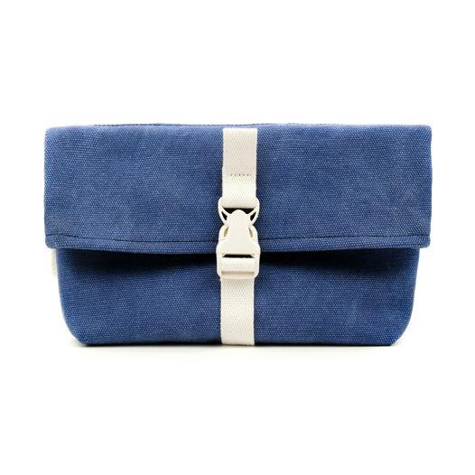 Поясная сумка из канваса, синяя, оригинальная