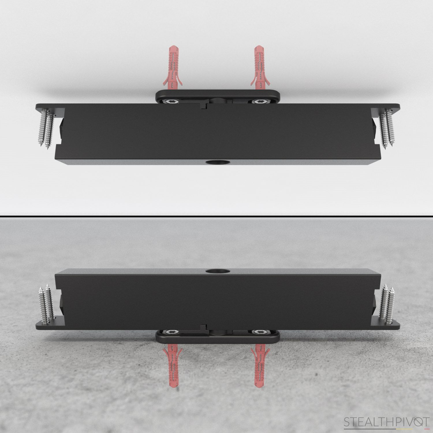 Stealth pivot pivoting hinge without floor spring