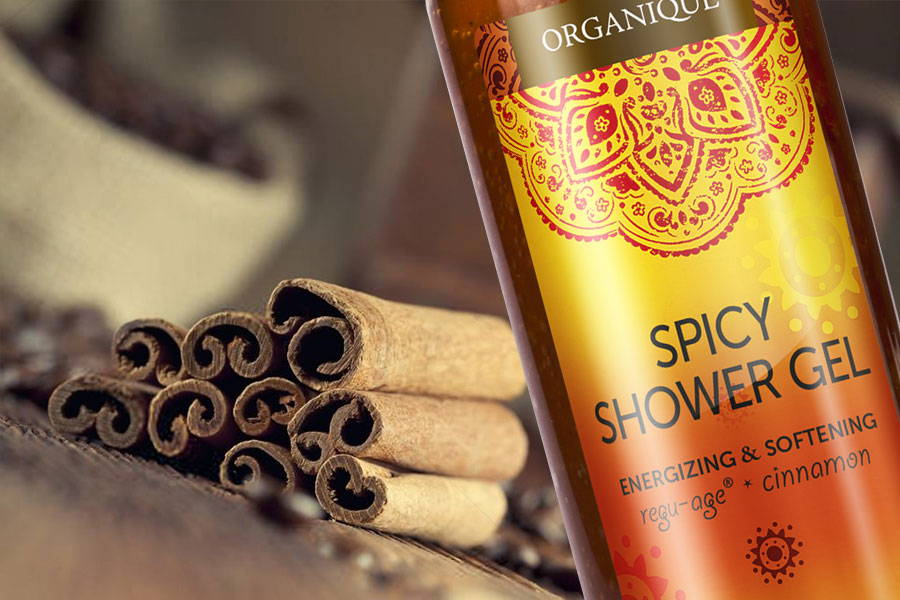 Spicy Shower Gel bottle 250ml from Organique cosmetics
