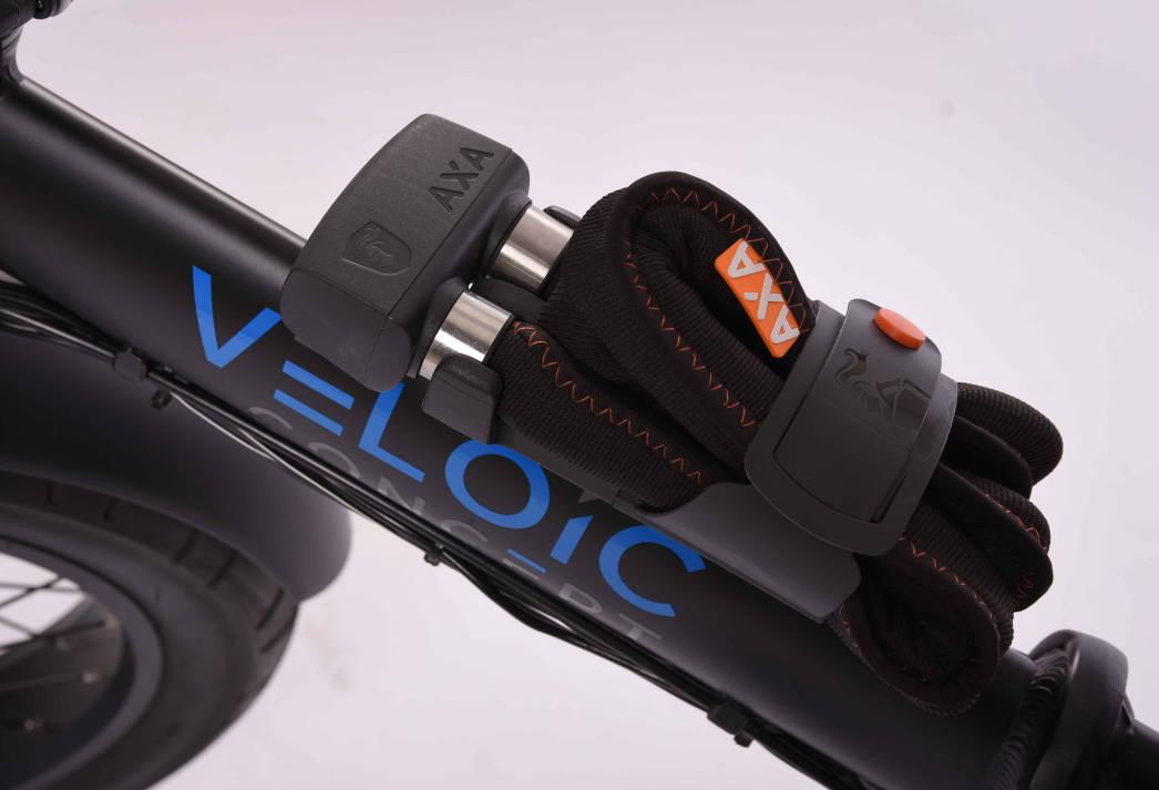 Bild von dem Axa 1000, wie es auf dem Veloic Concept montiert ist (schreg von oben)