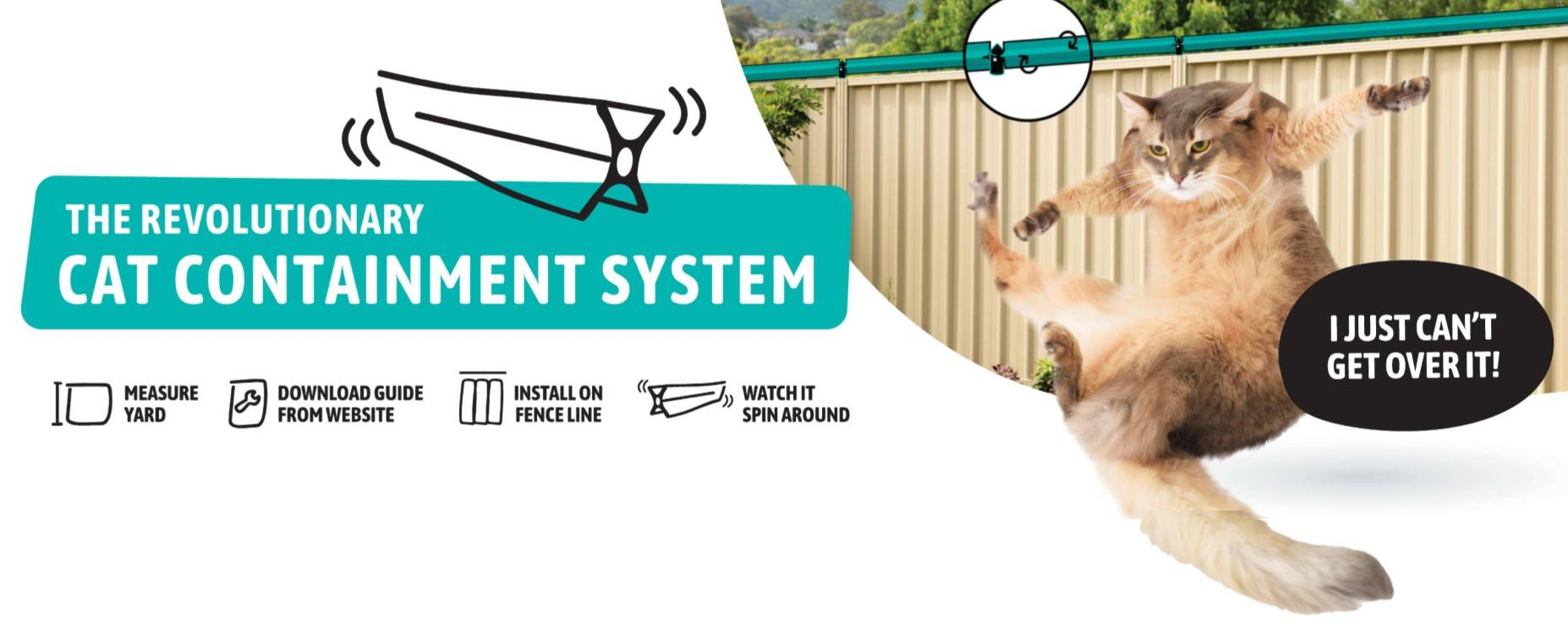 Oscillot cat containment system in simple cat-proof fence kits
