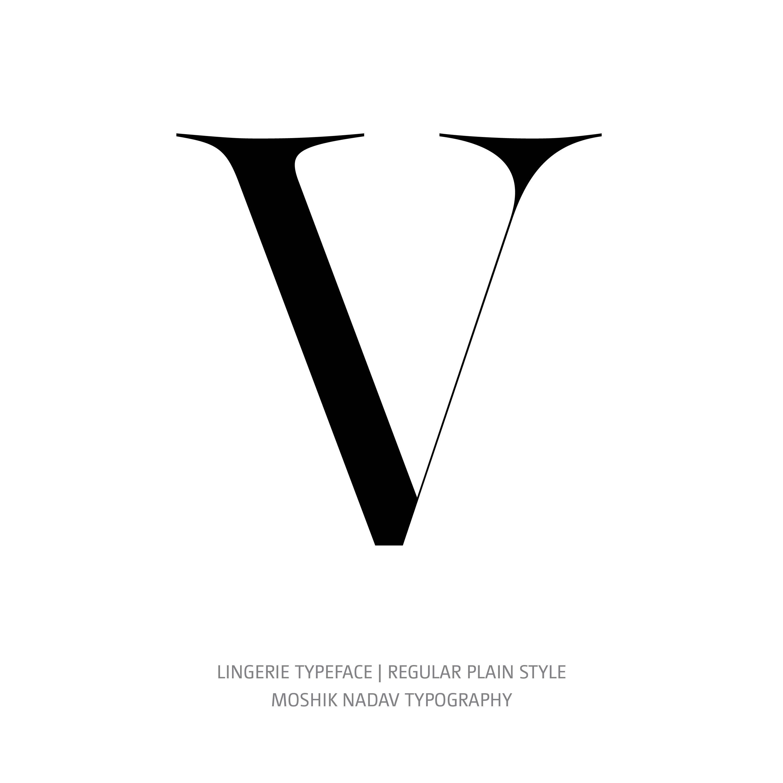 Lingerie Typeface Regular Plain V