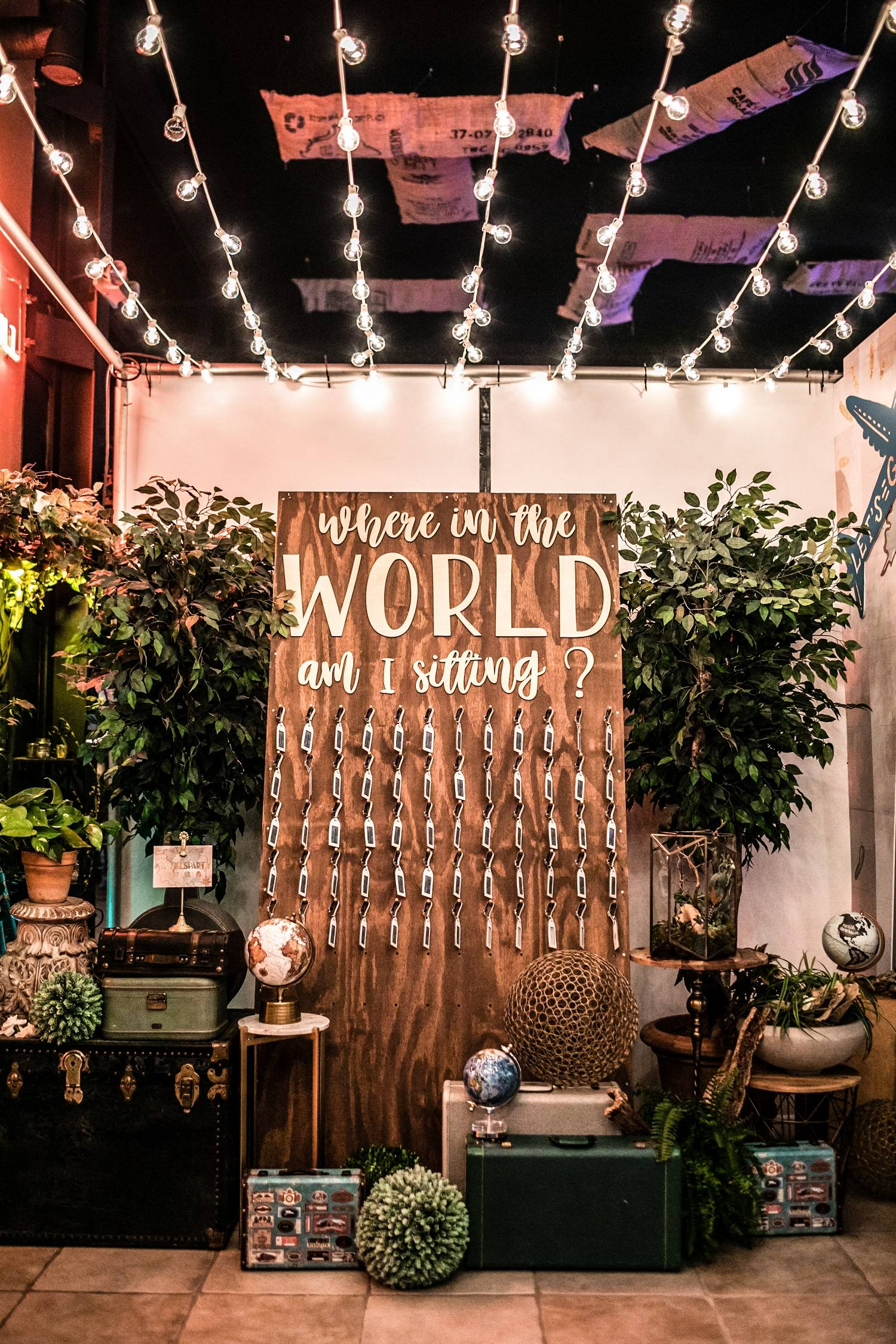 Around the world seating chart | Bella Wedding and Co | Tomas Flint Photography