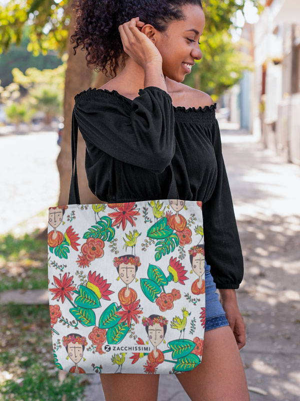 Zacchissimi Frida Kahlo Inspired Tote Bag