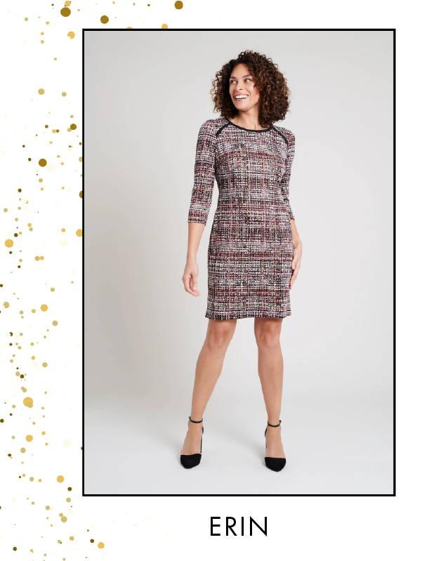 Shop Maggie Grey Sweater Knit Dress >