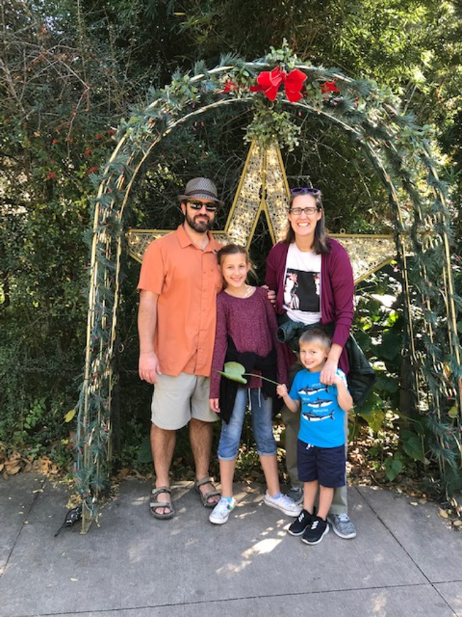 lauver family of 4 on vacation