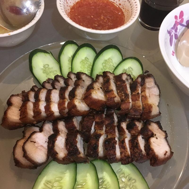 Thai style fried Pork Belly