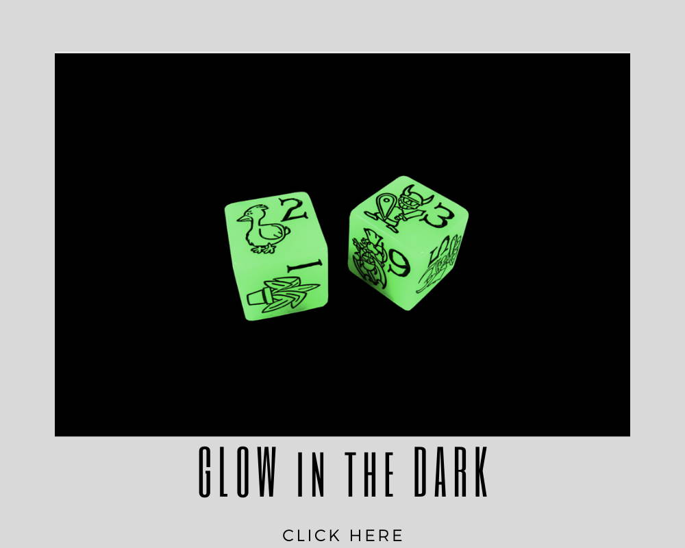 Corporate Glow in the Dark Custom Dice