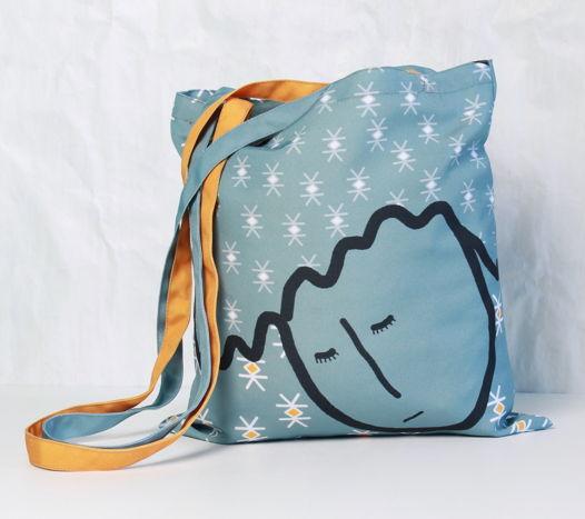 """Квадратная сумка через плечо Fishcard """"Во сне"""""""