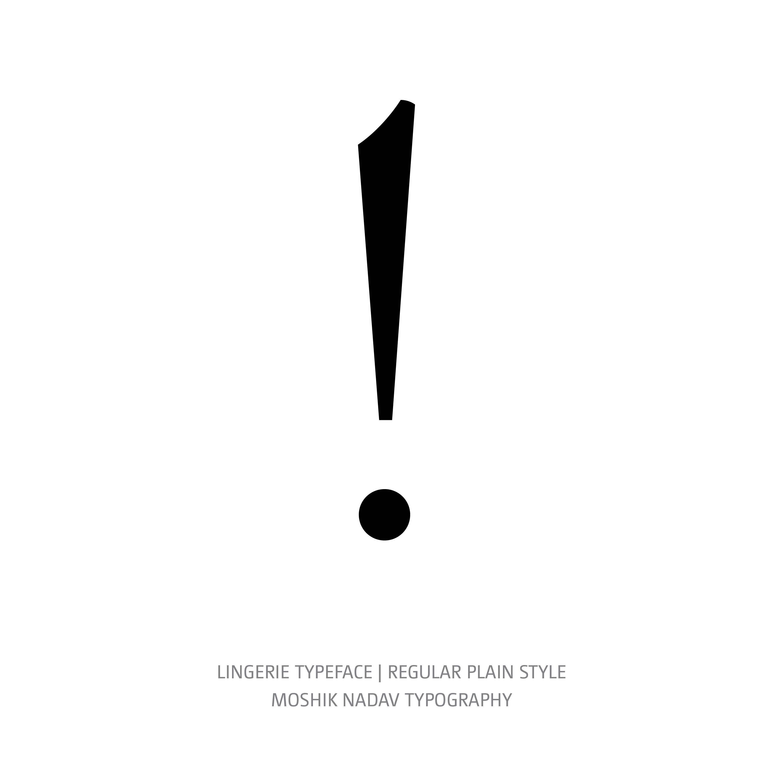 Lingerie Typeface Regular Plain ex mark