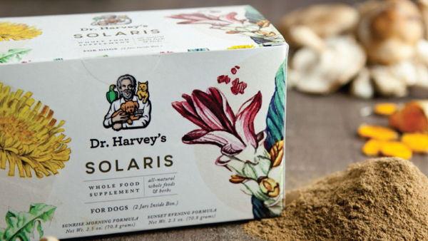 Dr. Harvey's Solaris Pet Supplement Packaging Design