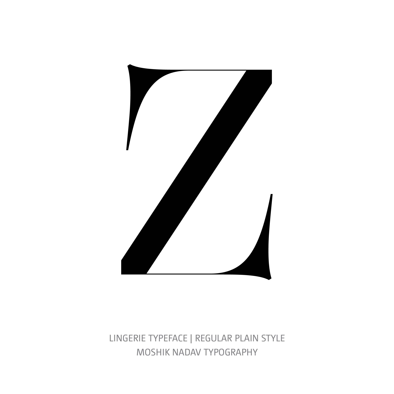 Lingerie Typeface Regular Plain Z