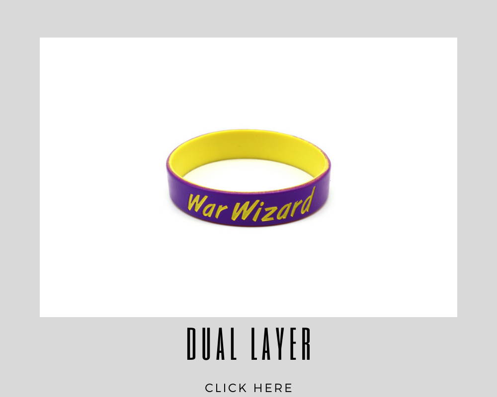 Corporate Custom Dual Layer Wristband