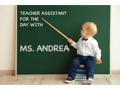 Assistant Teacher for the Day in JK with Ms. Andrea