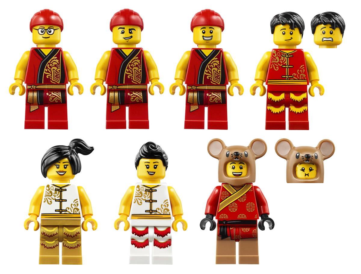 LEGO Lion Dance 80104 minifigures