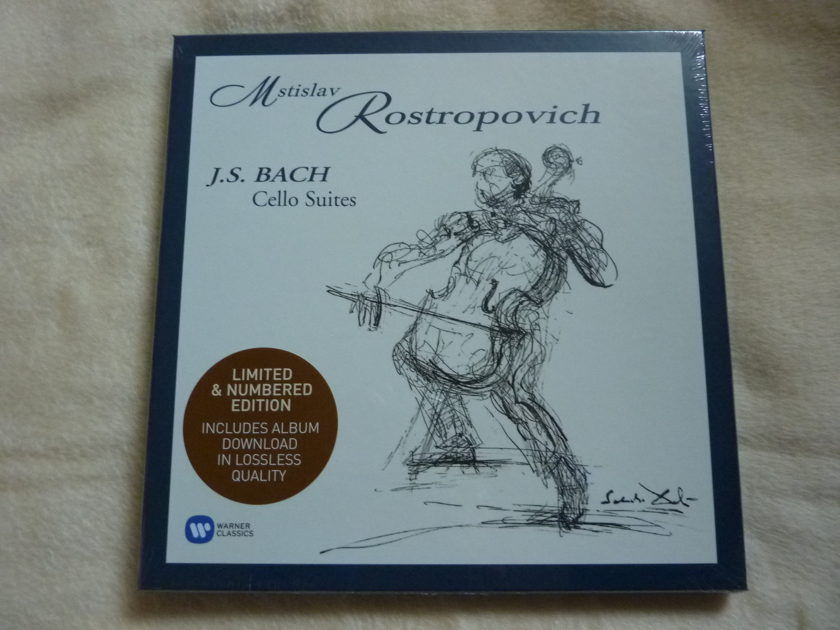BACH CELLO SUITES - ROSTROPOVICH   NEW SEALED Limited
