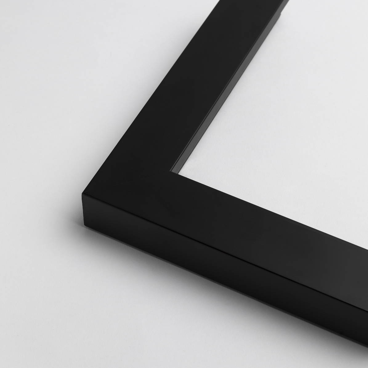 TV-Mirror Modern Matte Black Frame by FRAMING TO A T