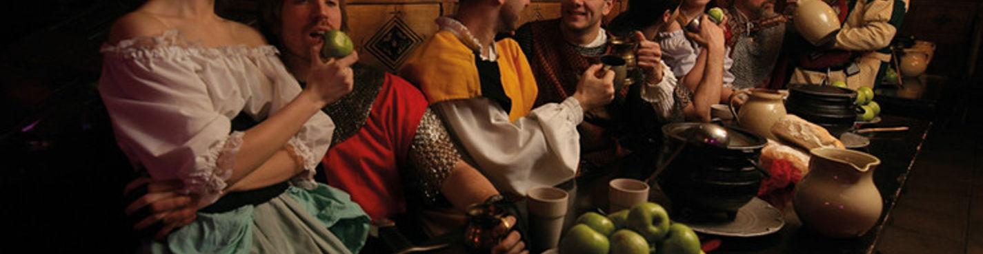 Cредневековое пиршество у Лондонского Тауэра