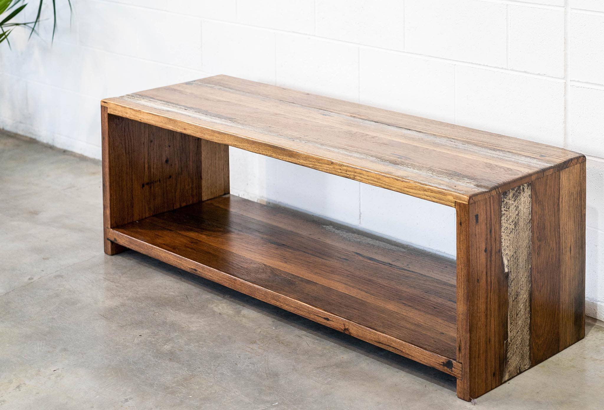 Recycled Timber Entertainment Unit Rustic Style, Stringy Bark. Skip/BJ