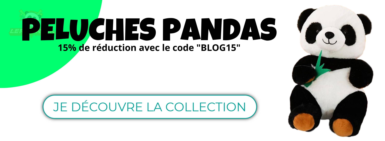 collection de peluches panda