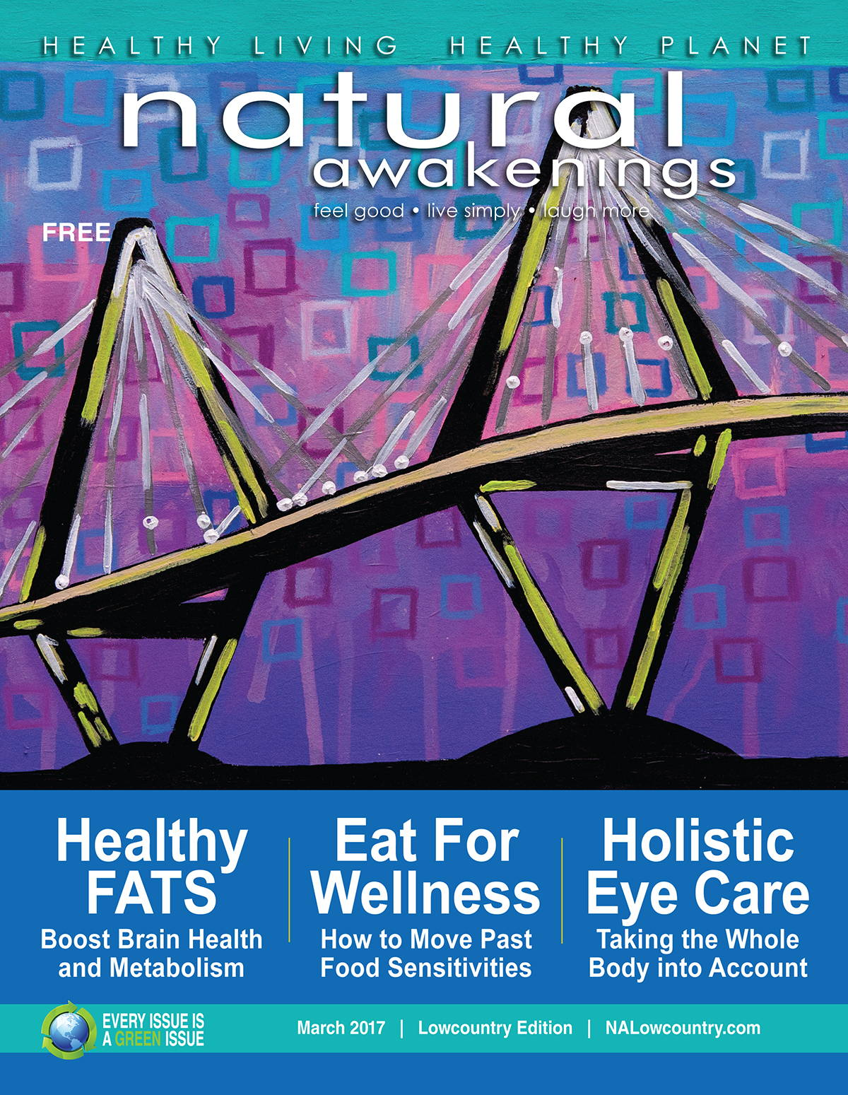 March 2017 Natural Awakenings Lowcountry Cover Artist