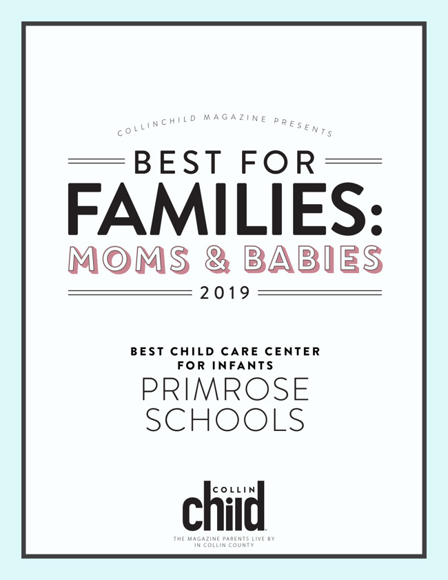 Collin Child Magazine Best for Families - Moms & Babies Award for 2019