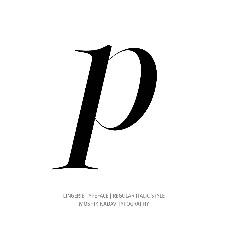 Lingerie Typeface Regular Italic p - Fashion fonts by Moshik Nadav Typography