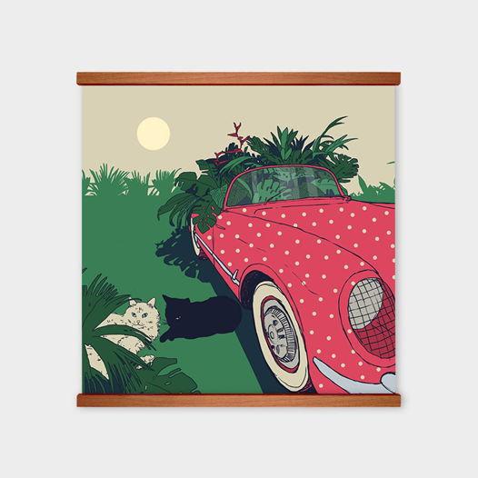 Постер «I love my car and my cat» от Oh So Me (серия Home)