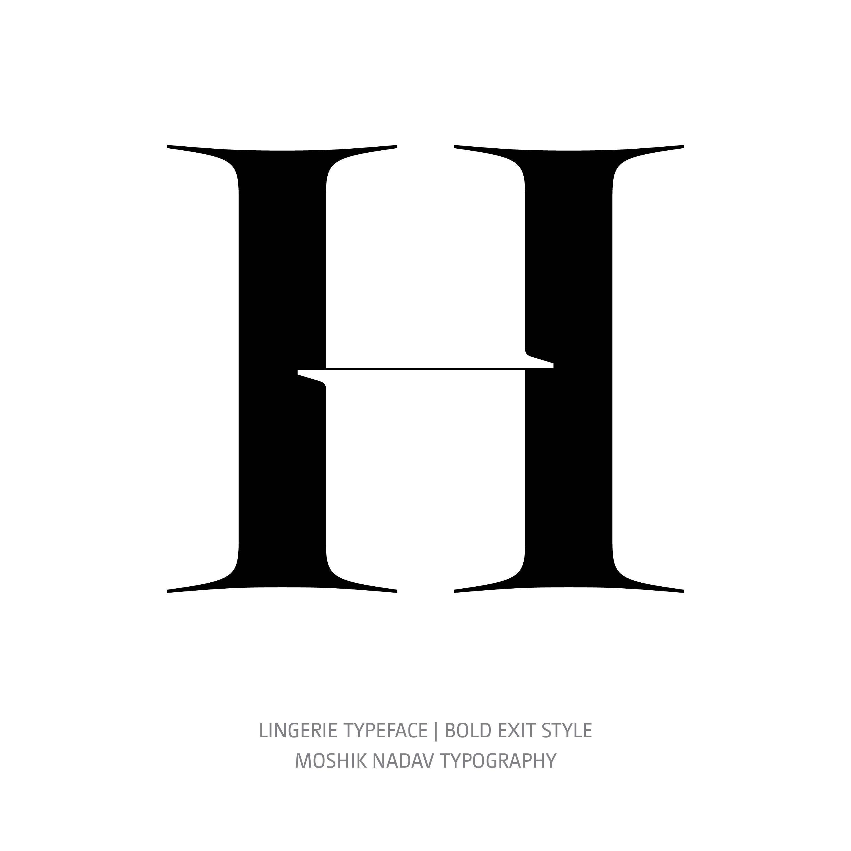 Lingerie Typeface Bold Exit H
