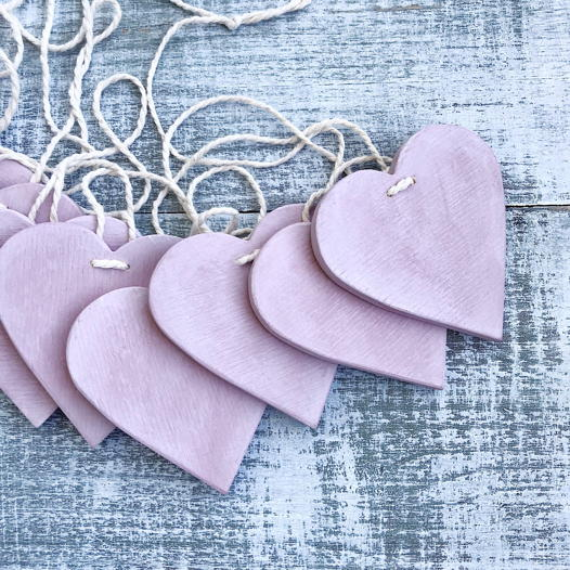 деревянная гирлянда Hearts