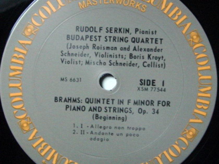 Columbia / BUDAPEST QT-SERKIN, - Brahms Piano Quartet, MINT!