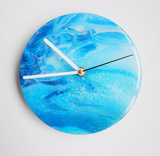 """Часы на стену """"Голубая лагуна"""""""