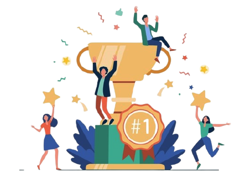 Team happy employees winning award celebrating success business people enjoying victory getting gold cup trophy vector illustration reward prize champions s 74855 8601 removebg preview