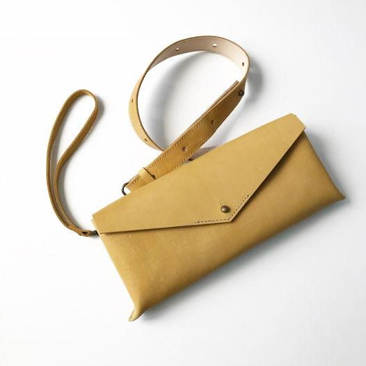 Кожаная сумка поясная/клатч Envelope Wheat Field