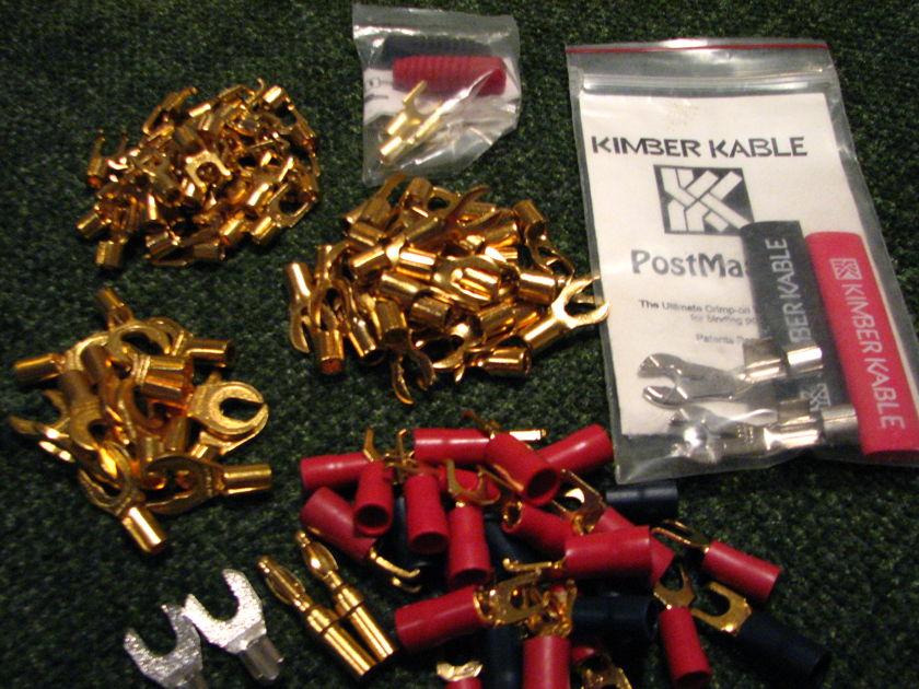 Gold Connectors(spade,banana,rca,etc.).) WBT, Grace, Monster,Kimber,etc.