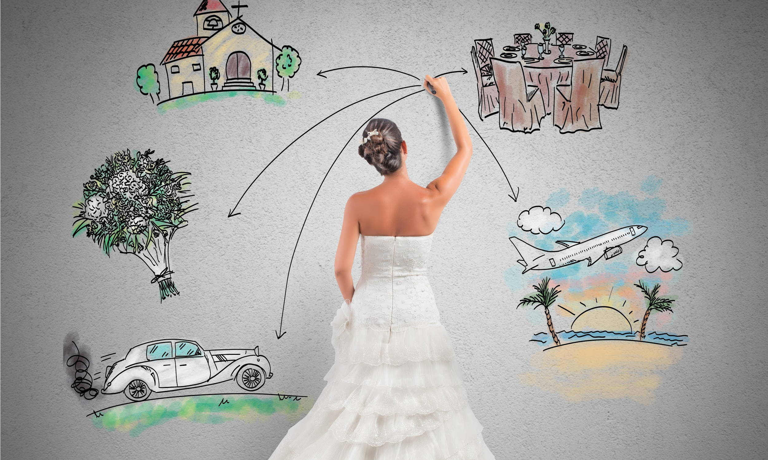 Bride Planning a Wedding
