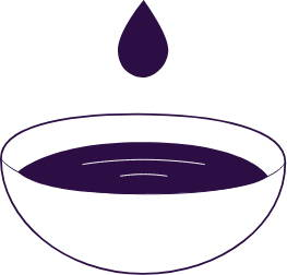 purple comfort wax in white bowl icon