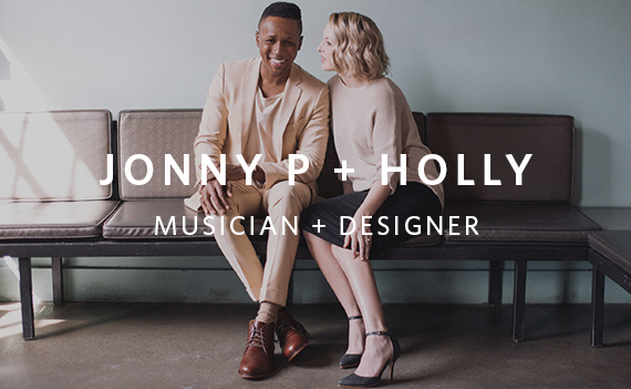 jonny p and holly musician and designer