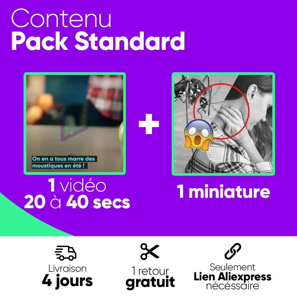 contenu pack standard vidéo dropshipping