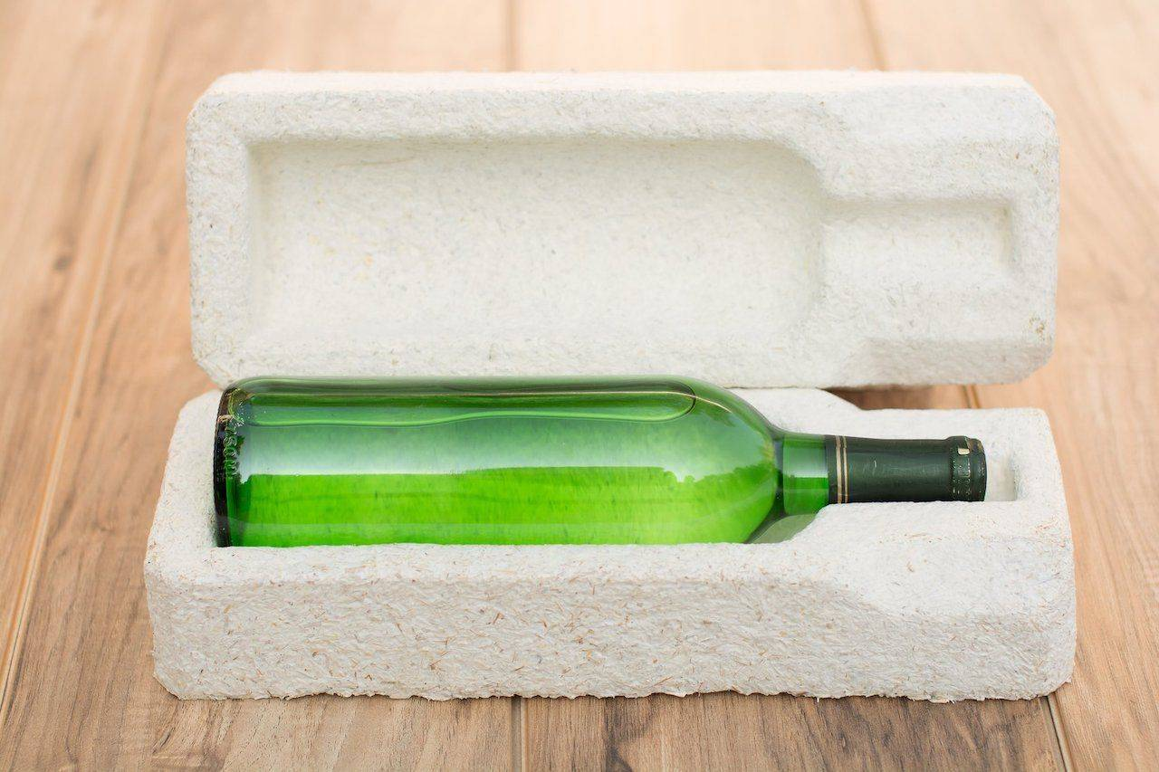 mushroom roots make packaging eco-friendly.  It provides protective packaging to ship a range of products from wines to delicate electronics