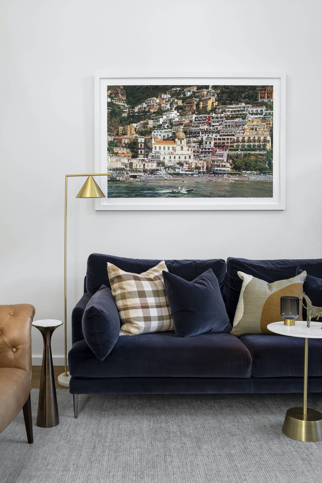 Photography of a Positano landscape in a living room