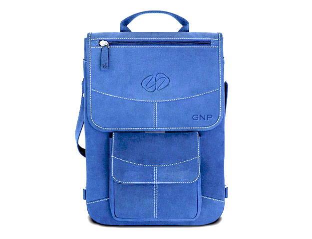 custom leather macbook pro case in blue