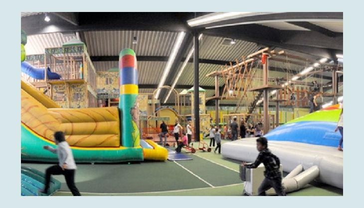 trampolino kinderspielpark panorama