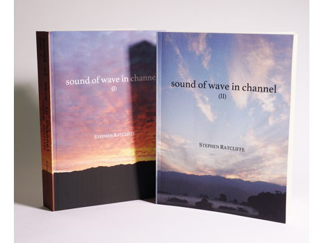 Poetry Books - sound of wave in channel (2 volumes) by Stephen Ratcliffe